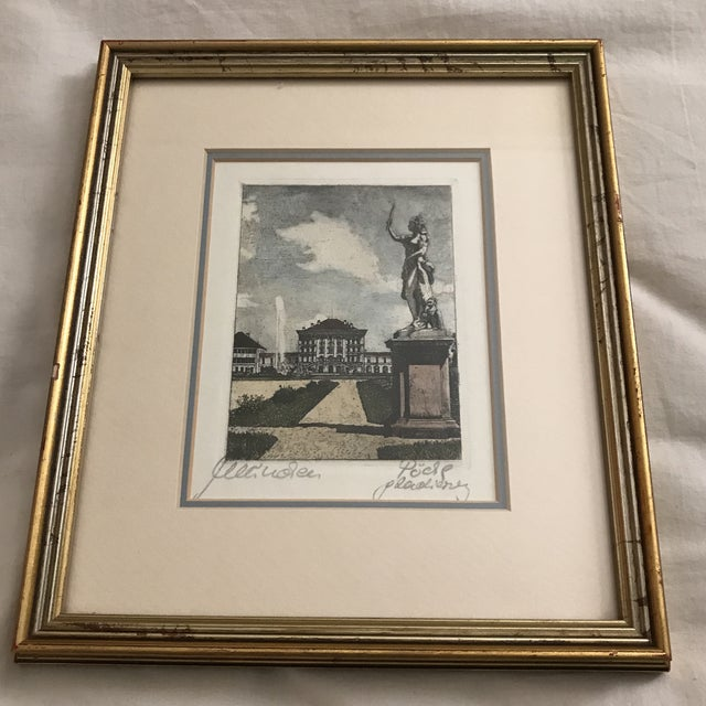 Framed Scenic European Prints - A Pair - Image 2 of 9