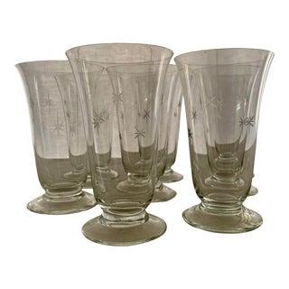 Mid-Century Modern Starburst Atomic Tumbler Glasses - Set of 8 For Sale
