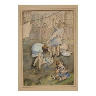 Cynthia Newmark, American, Circa 1930's Illustration For Sale
