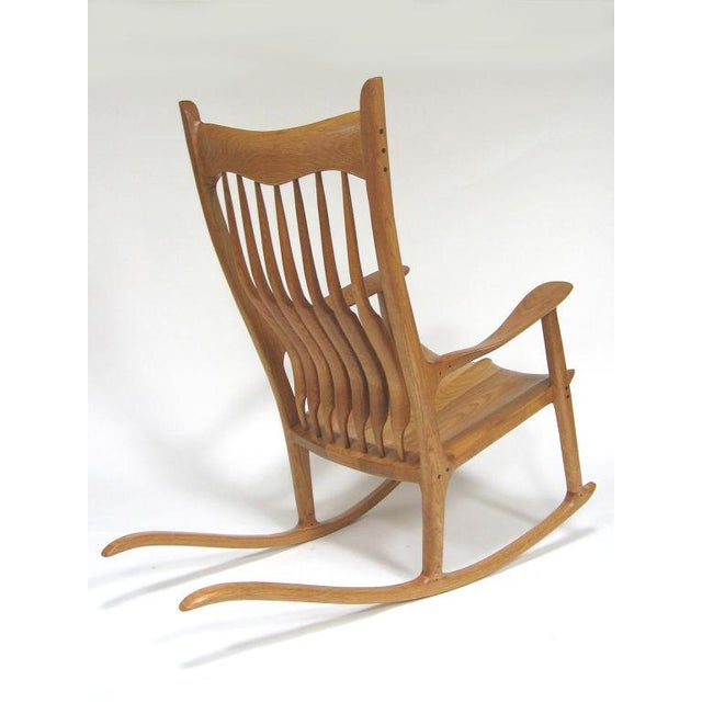 Admirable Sam Maloof Style Rocking Chair In White Oak Onthecornerstone Fun Painted Chair Ideas Images Onthecornerstoneorg