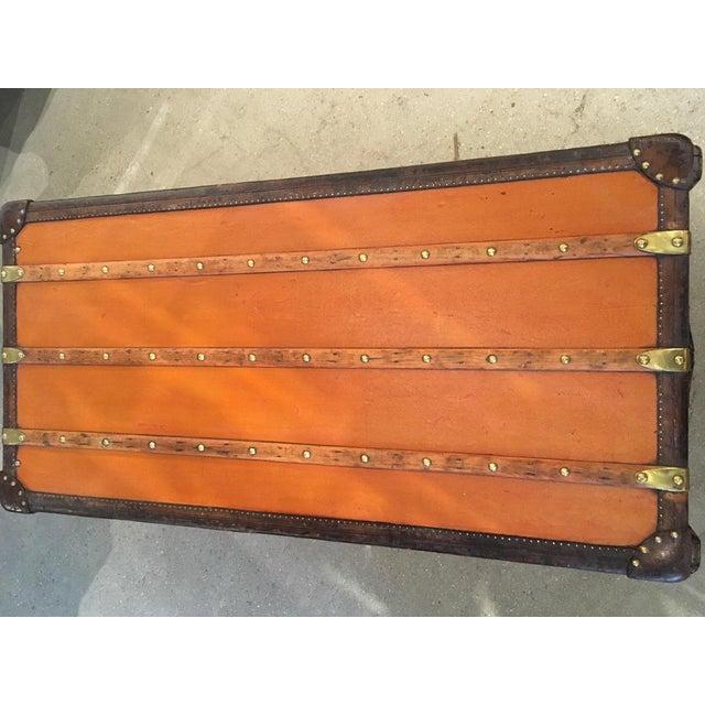Canvas Rare Louis Vuitton Orange Vuittonite Wardrobe Trunk, Circa 1920's For Sale - Image 7 of 9