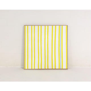 "Abstract John O'Hara ""Yellow Stripes"" Encaustic Painting Preview"