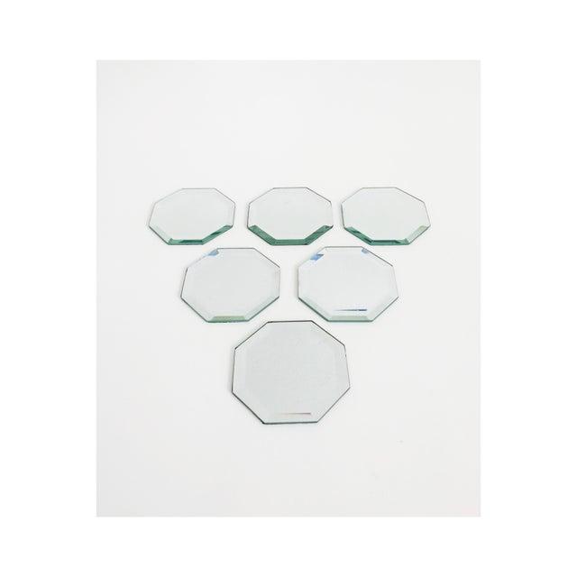 Felt Vintage Octagonal Mirror Coasters - Set of 6 For Sale - Image 7 of 7