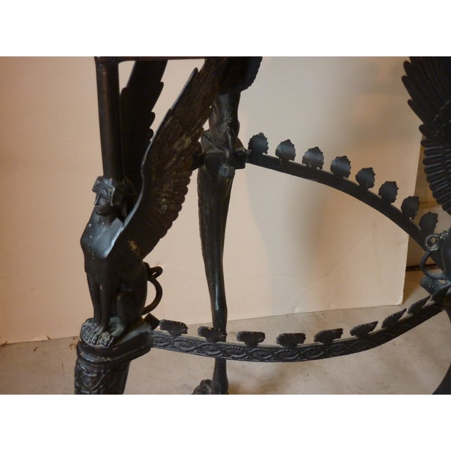 Metal Early 20th Century Italian Empire Style Bronze Gueridon For Sale - Image 7 of 10