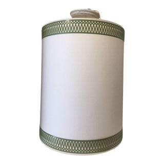 White & Kelly Green Ro Sham Beaux Cylinder Hanging Light For Sale