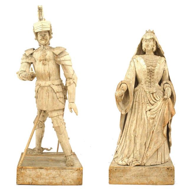 French 19th Century Duke & Duchess Figures - Set of 2 For Sale - Image 13 of 13