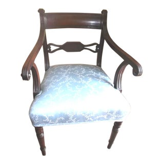 Late 19th Century Regency Mahogany Regency Arm Chair For Sale