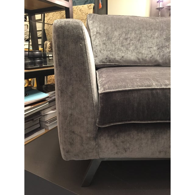 Gray Weiman Home Miles Velvet Chair For Sale - Image 8 of 9