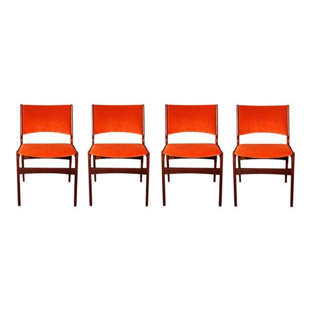 Arne Vodder Style Teak Side Chairs - Set of 4 - Image 1 of 9
