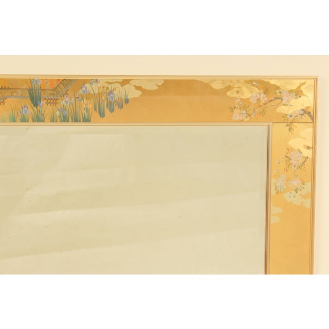 Mid-Century Modern La Barge Chinoiserie Style Mirror, Signed C. Adams For Sale - Image 3 of 13