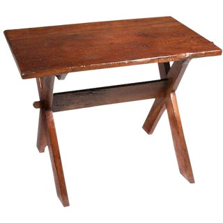 Mid 19th Century Antique Rustic Occasional Table For Sale