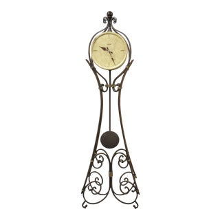 Howard Miller Vercelli Grandfather Clock Tall Wrought Iron Standing Floor Clock