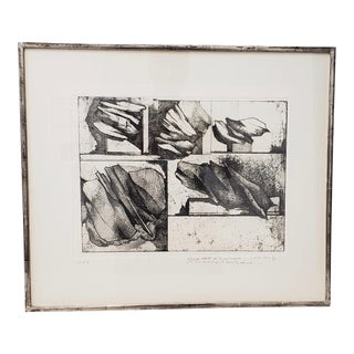 1963 Gio Pomodoro Pencil Signed Etching For Sale