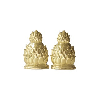 Brass Pineapple Bookends- A Pair