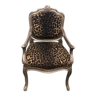 Leopard Print Children Armchair For Sale