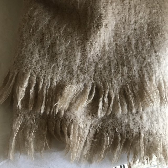 Australian Mohair Fringed Throw - Image 5 of 9