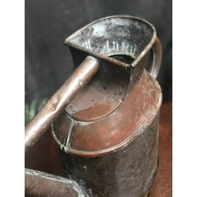 English Watering Can in Copper From Mid-19th Century For Sale - Image 4 of 5
