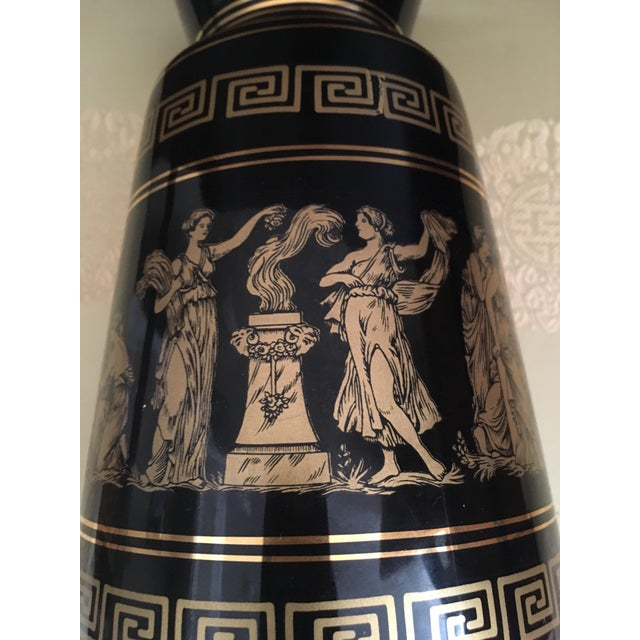 Vintage Greek Gods 24k Gold Vase For Sale - Image 9 of 11