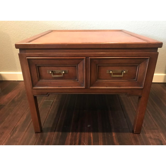 Hekman Walnut Asian Style Mid-Century Accent Table - Image 2 of 9
