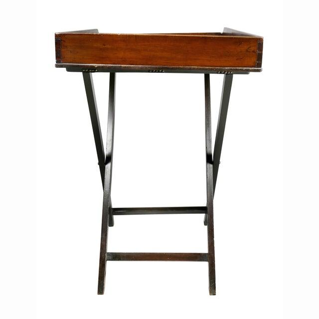 Mahogany Victorian Mahogany Tray Table on Stand For Sale - Image 7 of 8