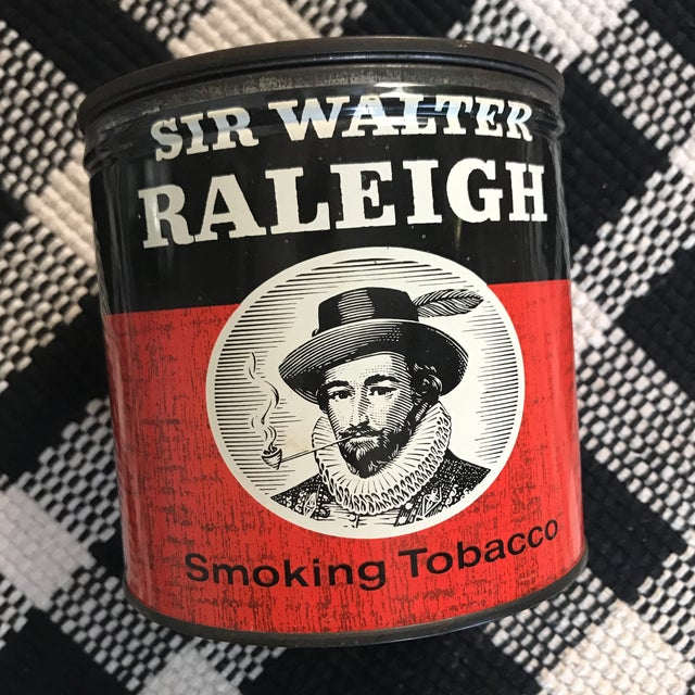 Beautifully patina'd vintage tobacco tin. This would be great in a man cave or placed on your shelf! Well worn, see photos.