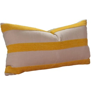 Custom Yellow Striped Throw Pillow Cover