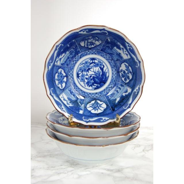 Blue & White Japanese Bowls - Set of 4 - Image 2 of 7