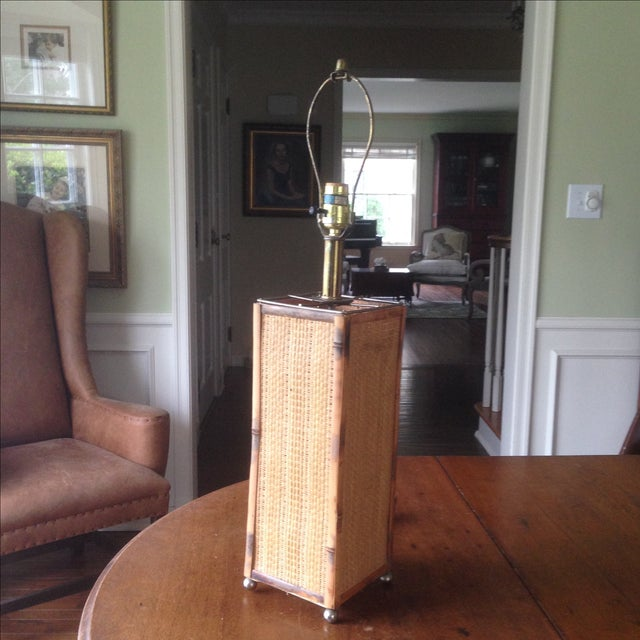 Vintage Rattan Table Lamp - Image 2 of 11