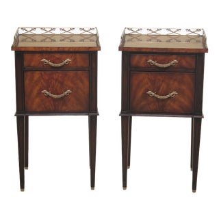 Theodore Alexander Earl Spencer Mahogany Nightstands-A Pair For Sale