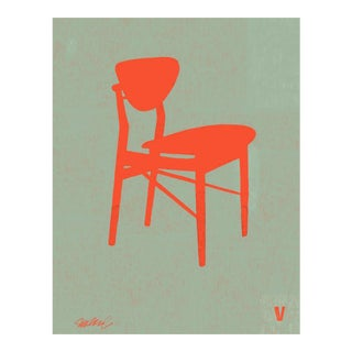 Premium Giclee Print of Finn Juhl Chair, Iconic Design Series For Sale