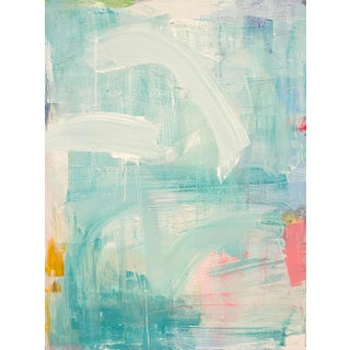 """""""Pink Flamingos"""" Contemporary Abstract Acrylic Painting by Sarah Trundle For Sale"""