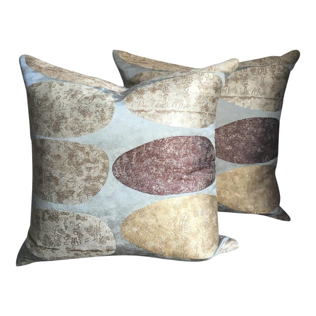 Donghia Custom Pillows - A Pair - Image 1 of 5