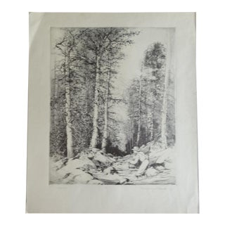 Mildred Bryant Brooks South Fork Etching For Sale