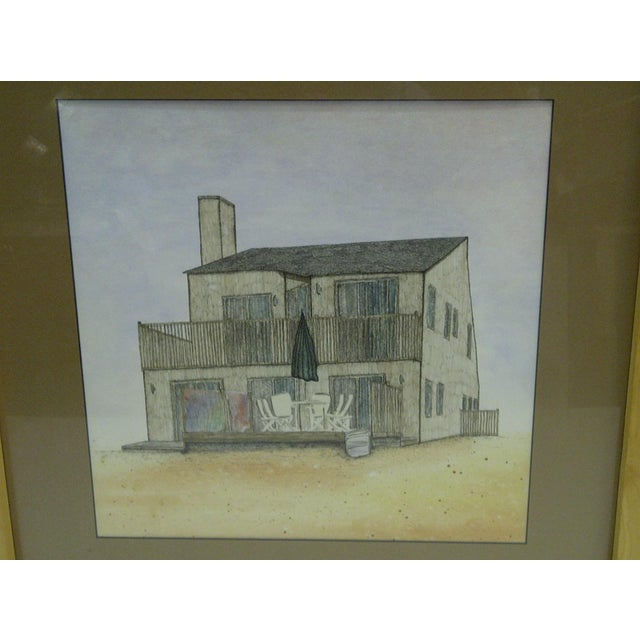 C 1970 beach house original drawing chairish for Beach house drawing