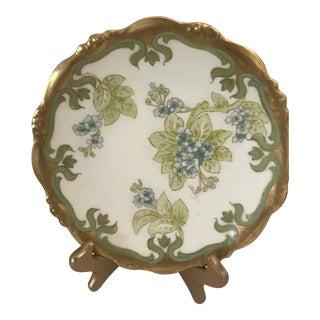 Art Deco/ Nouveau Gilded Decorative Plate For Sale