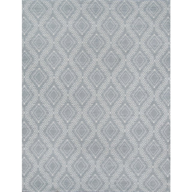 """Plastic Erin Gates by Momeni Easton Pleasant Grey Indoor/Outdoor Hand Woven Area Rug - 5' X 7'6"""" For Sale - Image 7 of 7"""