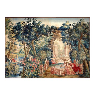 "Mid-17th Century Antique Tapestry From Brussels - ""Allegory of Spring"" For Sale"