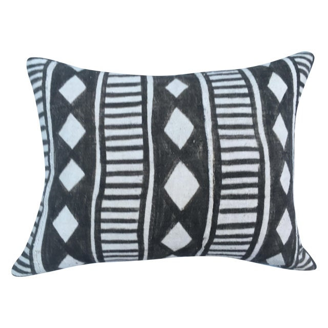African Tribal Mud Cloth Pillow - Image 1 of 7