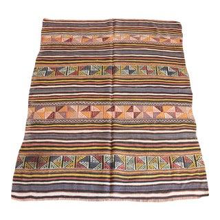 Handmade Flatweave Vintage Area Kilim Rug For Sale