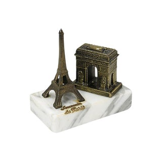 Mid-Century Paris Souvenir Eiffel Tower Paperweight For Sale