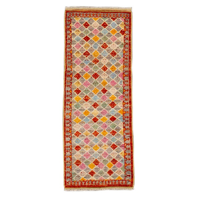 "Modern Gabbeh Rug, 2'0"" X 5'2"" For Sale - Image 10 of 10"
