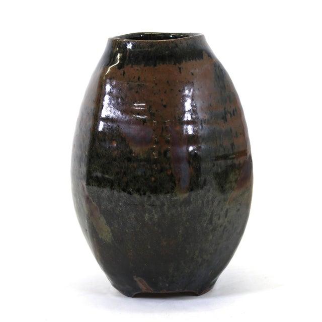 Mid-Century Modern Japanese Mid-Century Modern Studio Pottery Vase For Sale - Image 3 of 9
