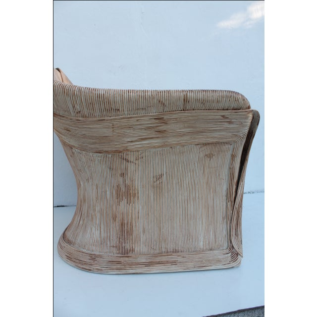 Gabriella Crespi Style Pencil Bamboo Club Chair - Image 4 of 11