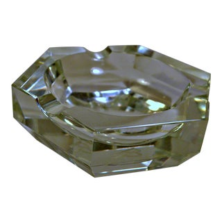 Hexagonal Heavy Glass Ashtray