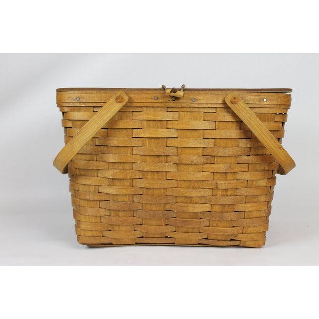 Vintage Longeberger Picnic Basket - Image 4 of 10