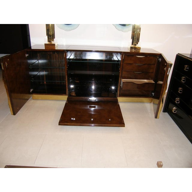 French French Abstract Bronze Detailed Cabinet For Sale - Image 3 of 4