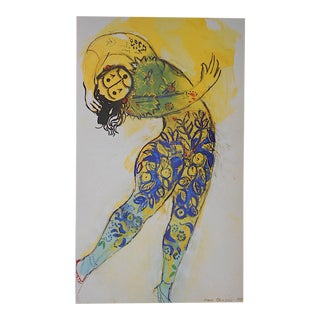 Vintage Marc Chagall Lithograph-Folio Size-c.1969
