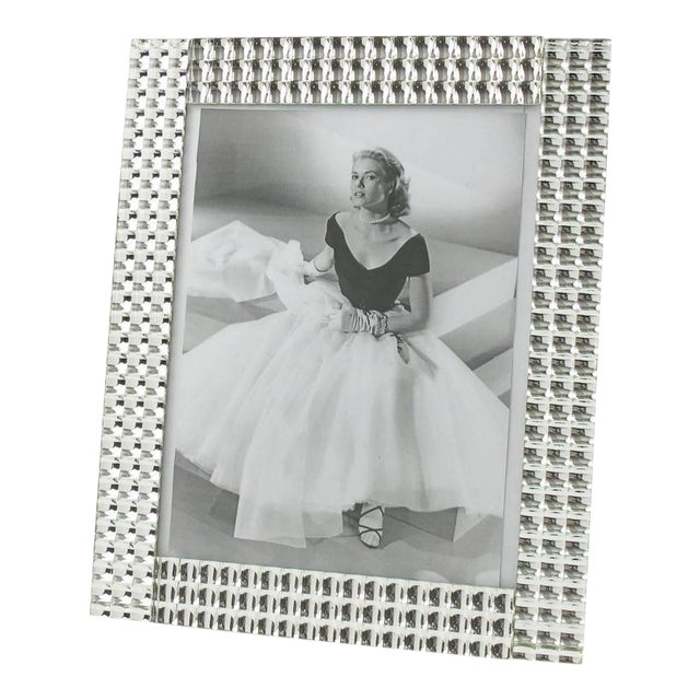 1950s French Large Mirror Picture Photo Frame For Sale