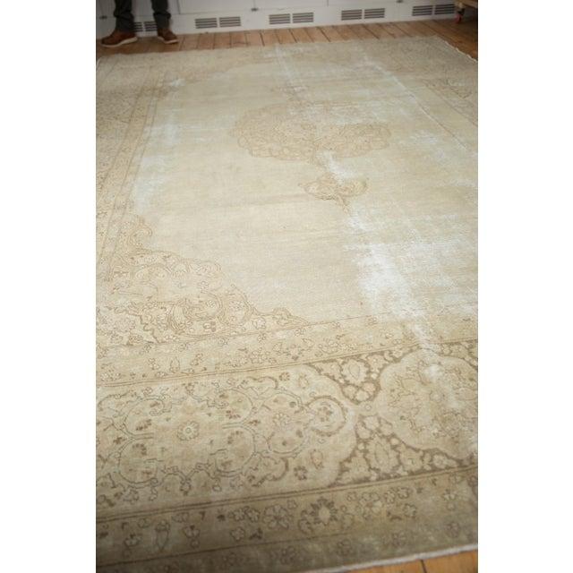 """1950s Vintage Distressed Tabriz Carpet - 9' X 12'9"""" For Sale - Image 5 of 13"""