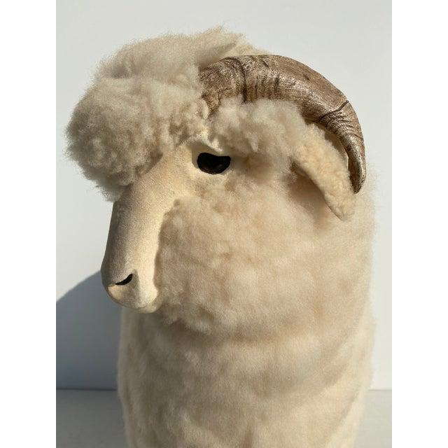 Vintage Sheep Sculpture Footrest/Sculpture For Sale - Image 10 of 11